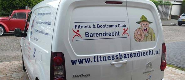 Autobelettering Fitness Barendrecht