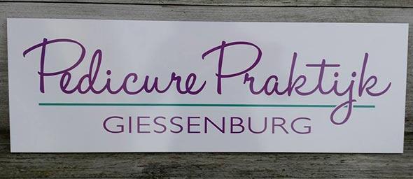 Reclamebord Pedicure Giessenburg