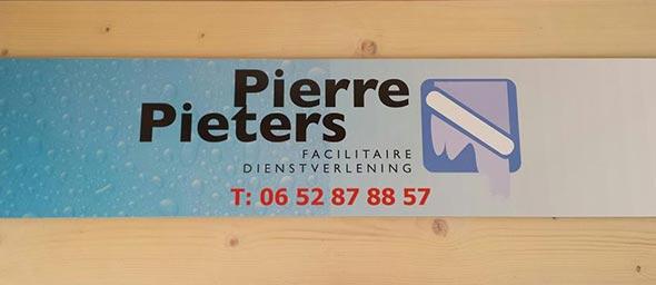 Reclamebord Pierre Pieters